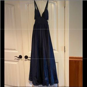 Prom/evening formal gown, navy